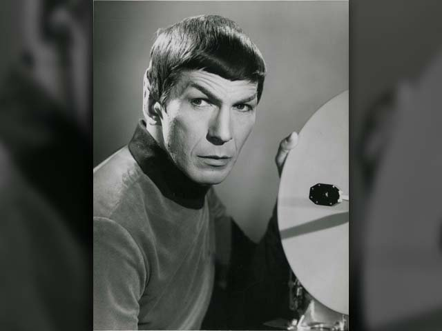 A promotional image of Leonard Nimoy as Spock in 'Star Trek' from 1967. (Source: Wikipedia)