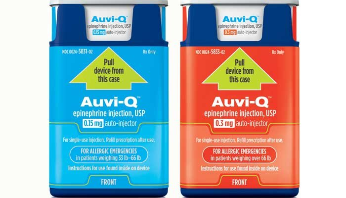 Auvi-Q said anyone who has the drug should immediately get a new epinephrine pen by another company. (Source: PRNewsFoto/Sanofi)