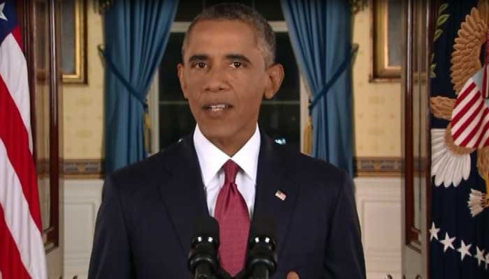 President Obama addressed the nation over terror threats Sunday. (Source: CNN)