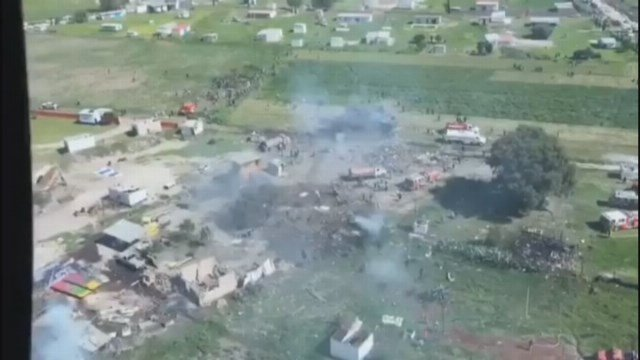The government of the State of Mexico said in a statement that eight people from the town of Tultepec were killed, along with the six emergency personnel and two others who have not yet been identified.
