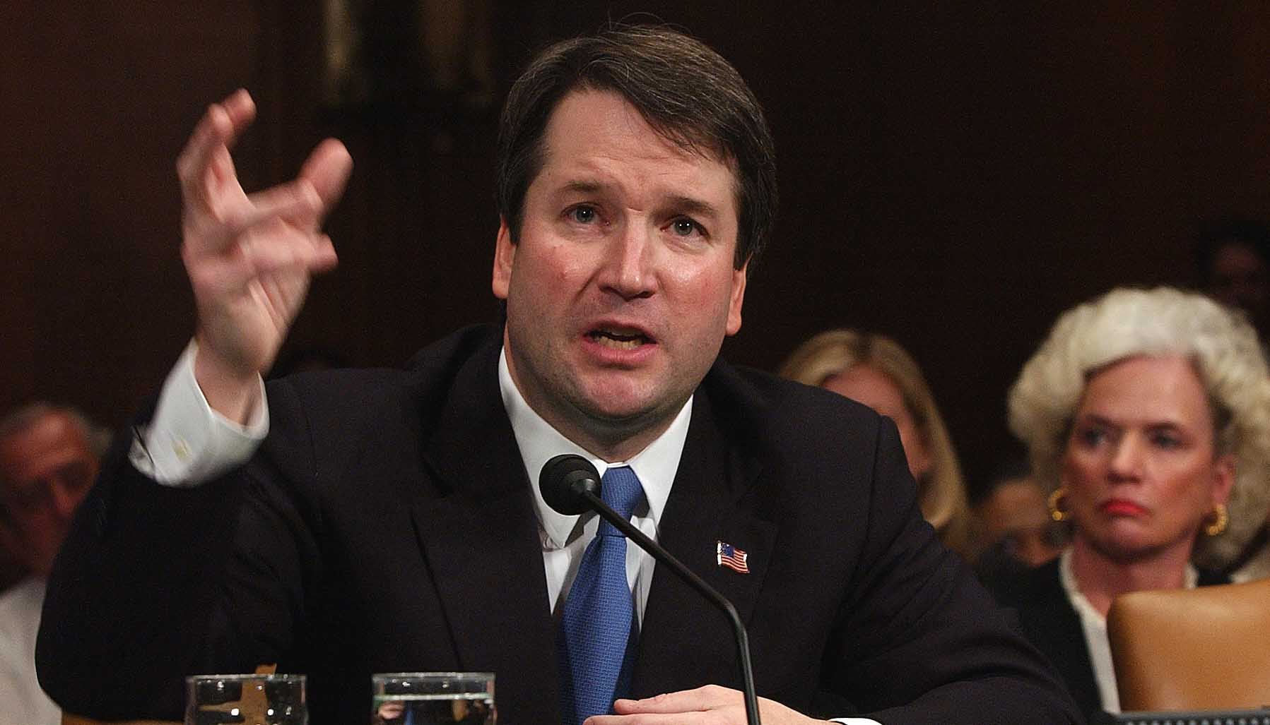 Financial disclosure forms show Supreme Court nominee Brett Kavanaugh racked up tens of thousands of dollars of credit card debt to buy Washington Nationals tickets for himself and friends. (AP Photo/Dennis Cook, File)