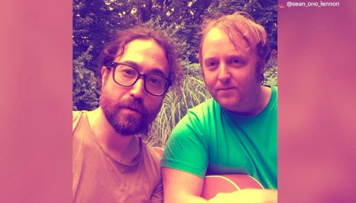 Sean Ono Lennon posted a selfie with James McCartney. (Source: Instagram/sean_ono_lennon/CNN)