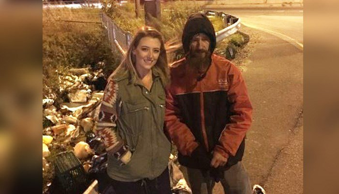 Kate McClure and Johnny Bobbitt met on a New Jersey exit ramp after she ran out of gas. (Source: GoFundMe)