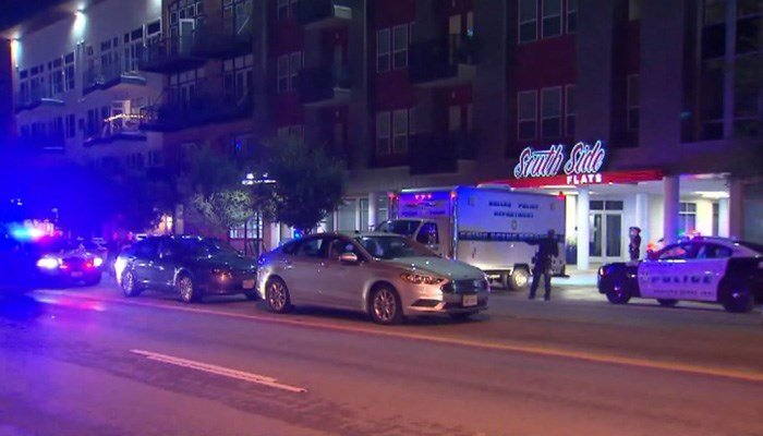 Authoritiessaid the officer has been placed on leave after shooting a man.(Source: KTVT/CNN)