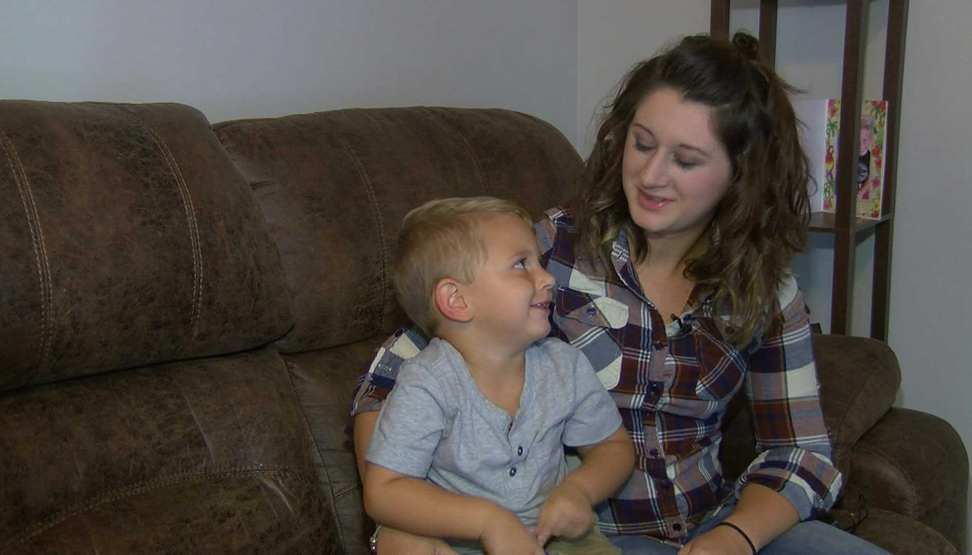 It was up to Ashton Cupples' 3-year-old son to figure out a way to save her. (Source: WMC)