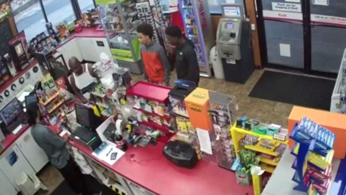 A Washington store manager said it disgusts her to watch surveillance footage of the confrontation. Her employee has been hospitalized, suffering from a heart attack. (Source: KOMO/CNN)