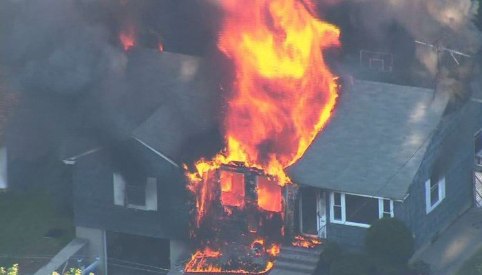 One person has been killed and at least 10 people have been injured in the fires that broke out in a string of towns north of Boston. (Source: WHDH/CNN)