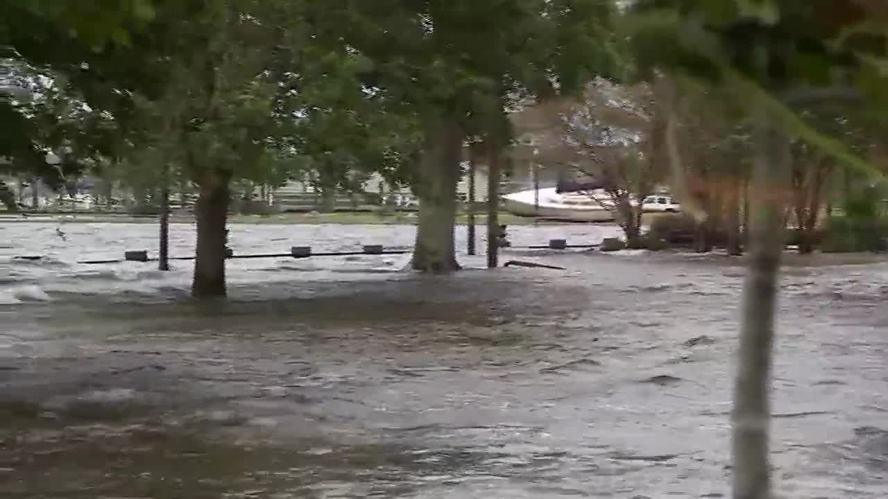 Slow-moving Florence dumps rain and creates dangerous flooding in the Carolinas. (Source: WNCN/WTVD/WRAL/CNN)