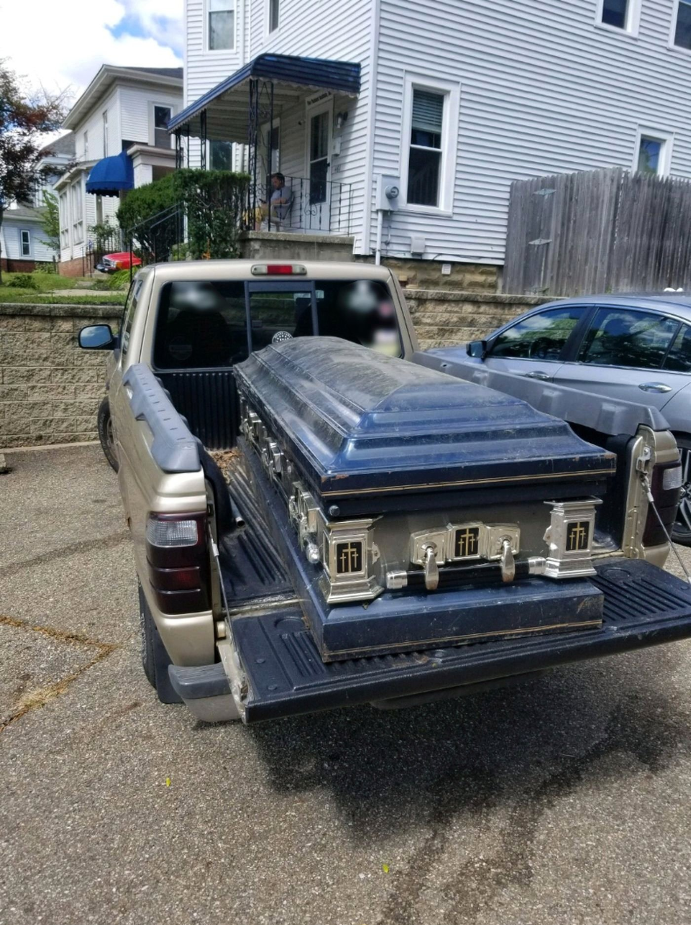 The casket found in Akron was locked. (Source: Heather Bailey)