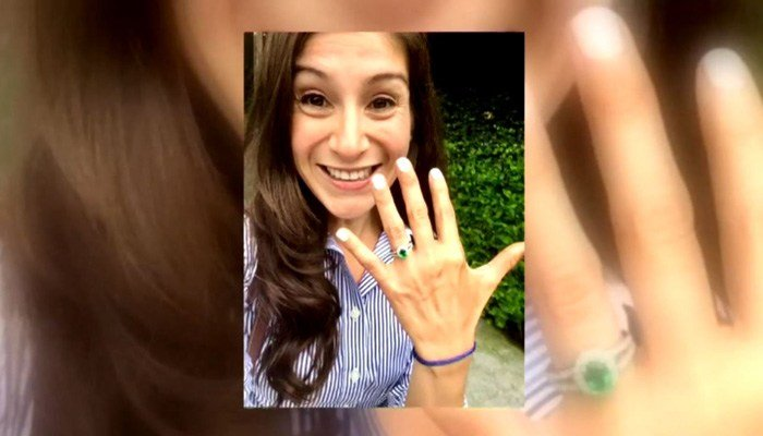 Katrina Martinez, 35, was engaged last week. Police have arrested a suspect. (Source: WJLA/CNN)
