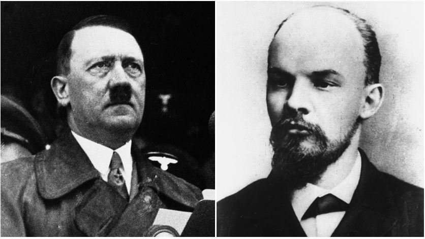 Fortunately for Peruvian voters, the two candidates are not the infamous fascist German dictator or Russian communist revolutionary. They just happen to share names with the historical figures. (Source: AP Photos)